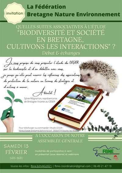 Biodiversité et société en bretagne cultivons les interactions